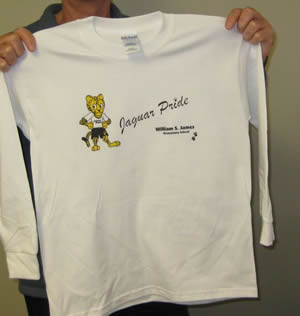 Long Sleeve Tee printed with Direct to Garment Printing from Sunshine Designs