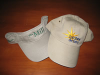 We can embroider many items, like hats and visors too.