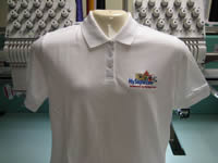 Embroidered Polo Ladies White - Custom Embroidery from Sunshine Designs
