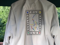 Embroidered jacket for Maryland Polo Club